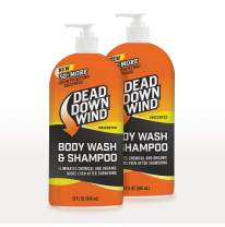 Dead Down Wind Body & Hair Soap Pump Top | 32 oz Bottle | 2 Pack (64 oz.) | Unscented | Hunting Scent Eliminators, Sensitive Skin Body Wash & Body Soap, Hunting Accessories