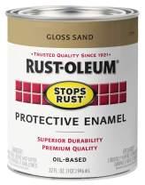 Rust-Oleum 7771502 Stops Rust Brush On Paint, Quart, Gloss Sand