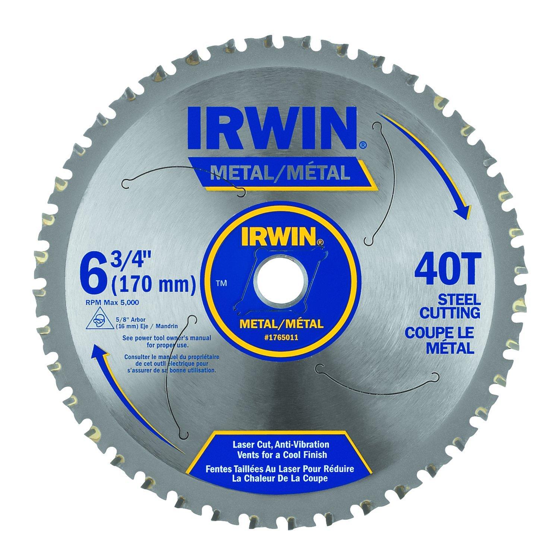 IRWIN Tools Metal-Cutting Circular Saw Blade, 6-3/4-inch, 40T (4935554)