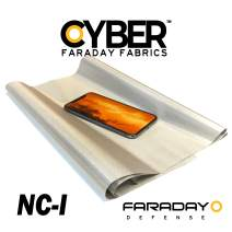 "Cyber Nickel Copper 1 Faraday Fabric EMF Shielding 50"" Width Signal Blocking Material - Plain Weave… (50"" x 1')"