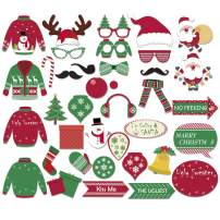UCKKYY Christmas Photo Booth Prop Frame Party Supplies-Xmas New Year Party theme Decorations Supplies (Photo Booth Props)