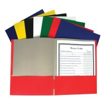 C-Line Recycled Two-Pocket Paper Portfolio, 1 Case of 100 Folders, Assorted Colors (05300-100)