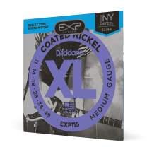 D'Addario EXP115 Coated Electric Guitar Strings, Medium/Blues/Jazz, 11-49