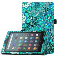 "Famavala Folio Case Cover Compatible with 7"" Amazon Kindle Fire 7 Tablet (9th Generation, 2019 Release) (MintFlower)"