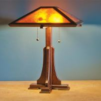 Woodworking Paper Plan to Make Arts and Craft Lamp
