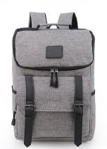 "Weekend Shopper 15.6"" Laptop Backpack Vintage Backpack College backpacks Laptop Bookbag School Backpack Daypack Notebook Backpack for Women and Men GRAY"