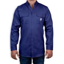 Light Weight FR Shirt for Men - Fire Retardant Shirt for The Warm Months - Fire Resistant Shirt in A Light Weight Fabric (Medium, Blue)
