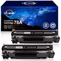 Uniwork Compatible Toner Cartridge Replacement for HP 78A CE278A use for Laserjet Pro P1606dn, M1536dnf, P1566, P1560, P1606, M1536 Printer (2 Black)