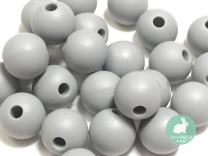 Silicone Beads for Teething | 15mm 100pc Jewelry Making Beads | Food Grade BPA Free Chewable Beads for Teethers, Nursing Necklaces, Bracelets (15mm, 03 Light Gray)