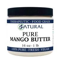 Pure Organic Mango Butter-2 Sizes Available-Food Grade & Cosmetic Grade, Organic, Pure, Clean, Naked, (16 Ounce)
