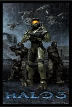 "Trends International Halo 3 - Master Chief, 22.375"" x 34"", Black Framed Version"