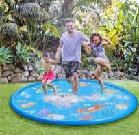 "TOCO FREIDO Sprinkler Pad & Splash Play Mat 68"" for Kids, Toddler Water Toys Fun for 3 4 5 6 Years Old Boy Girl, Kids Outdoor Party Sprinkler Toy"