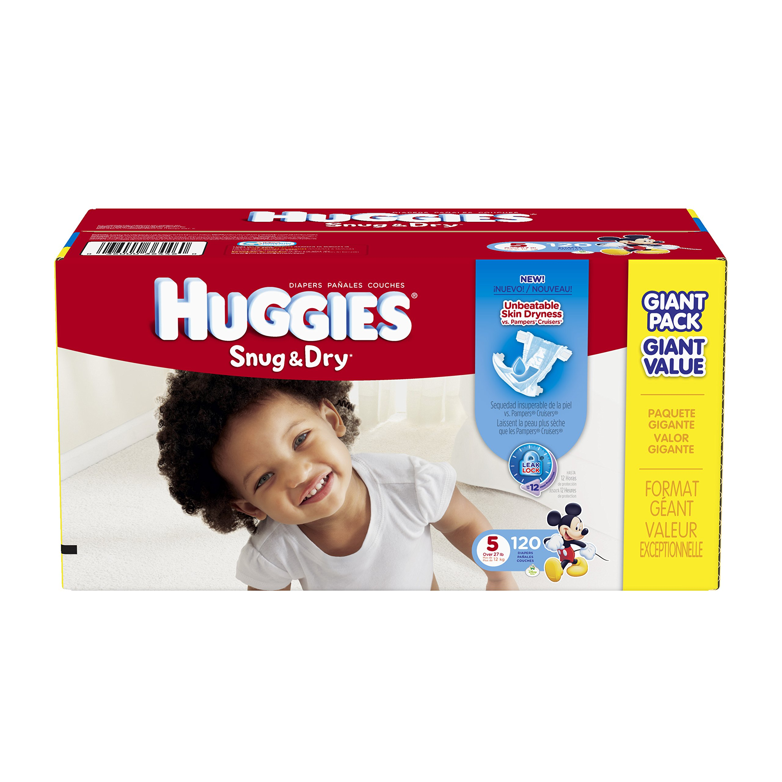 Huggies Snug and Dry Diapers, Size 5, 120 Count