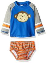 KIKO & MAX Boys' Baby Rashguard and Diaper Cover Swim Set