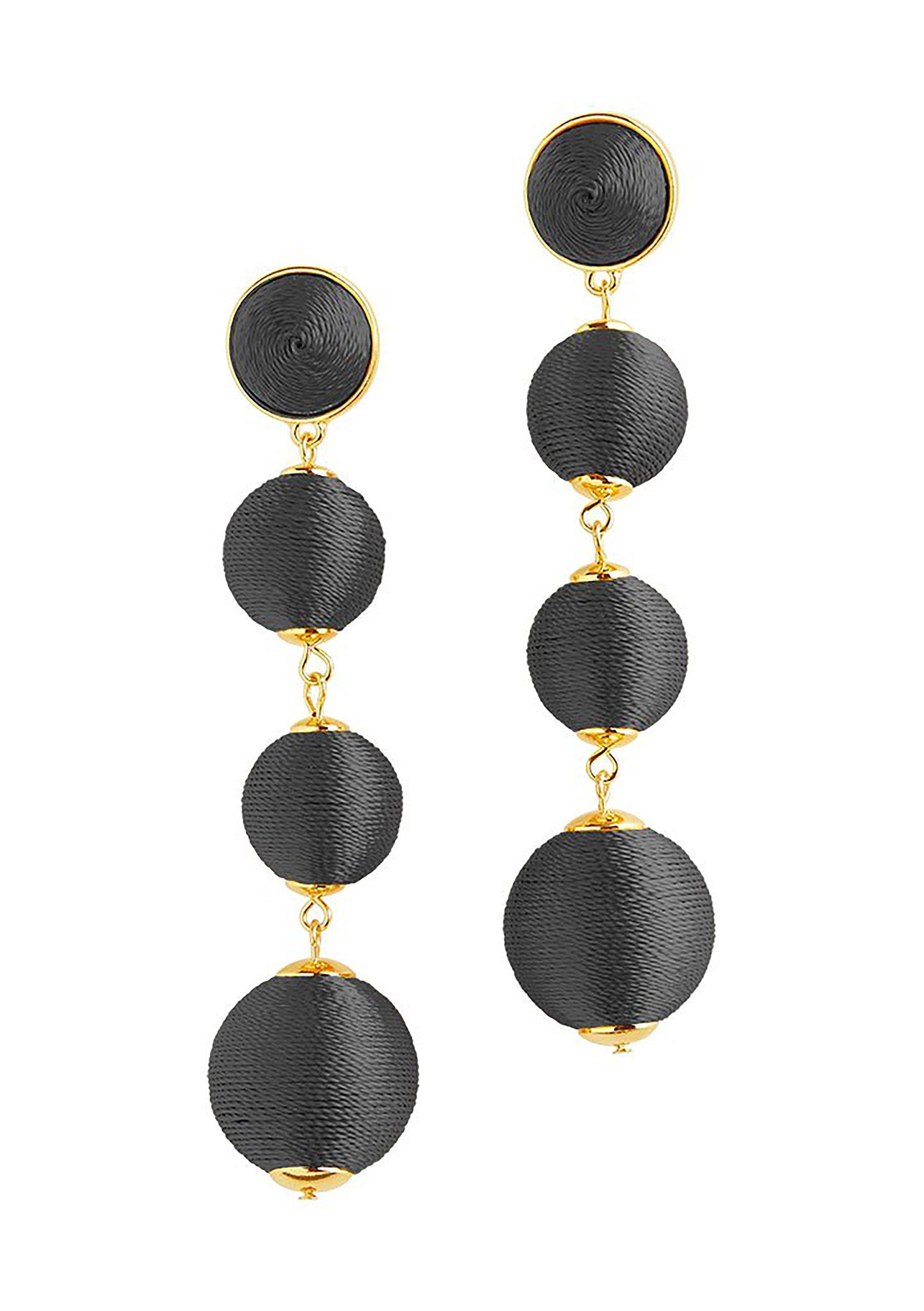 Sterling Forever Fashion Jewelry - Thread Wrapped Multi Orbit Soriee Drop Earrings for Women