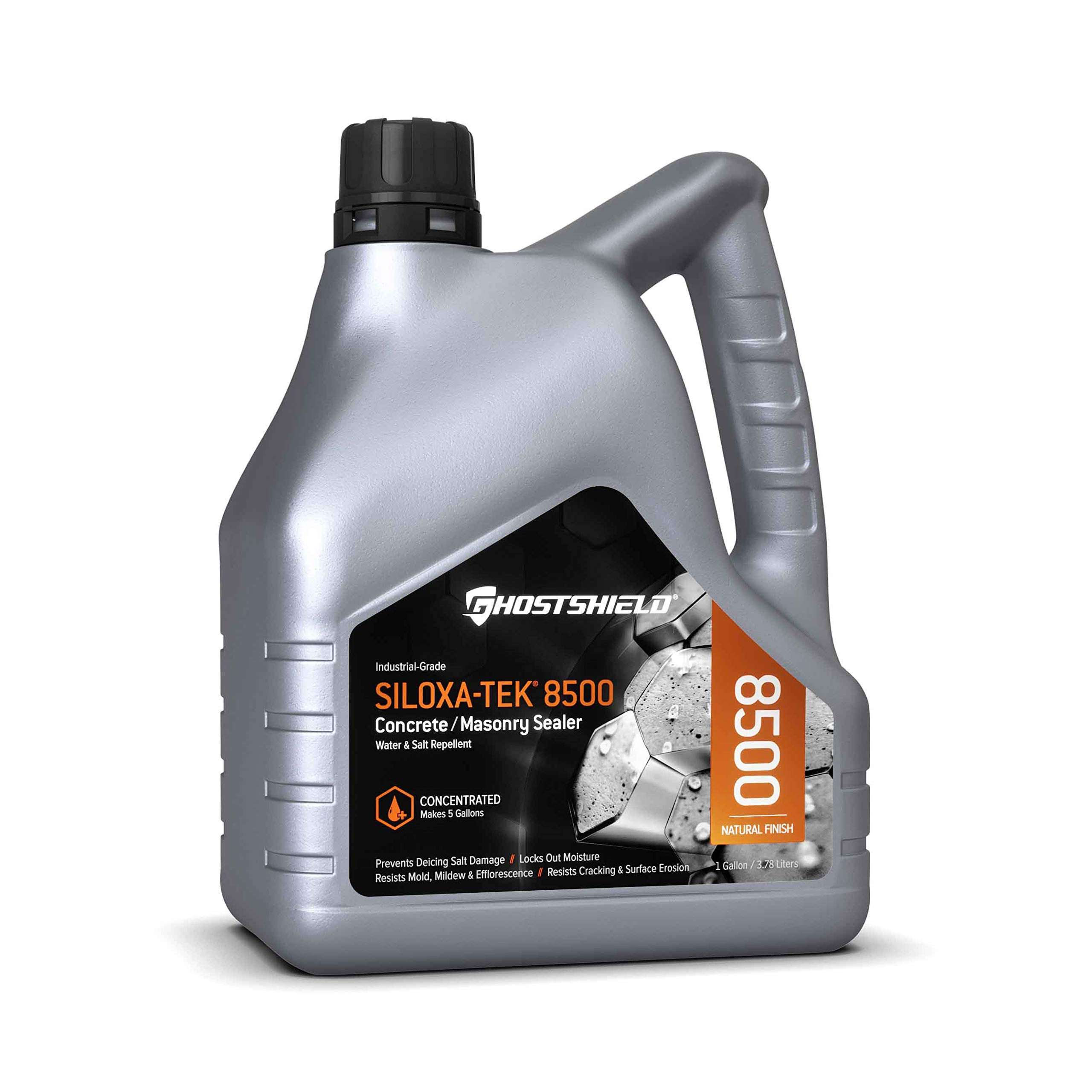 Siloxa-Tek 8500 Ultra Concentrate - 1 Gallon (Makes 5 GALLONS) Penetrating Concrete Sealer, Water and Salt Repellent