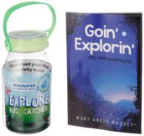 reCAP Mason Jars EXPLORE Bug Catcher – Glow Green - Plastic Firefly Mason Jar Bug Catcher Container and Glow-In-The-Dark Magnifying Lid, Made with Safe, BPA-Free, No-Break Materials
