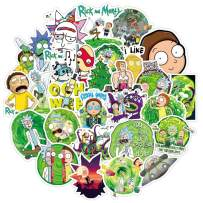 Rick and Morty Stickers Funny Cartoon Stickers for Laptop 50PCS Waterproof Vinyl Stickers Water Bottles, Phone, Guitar, Skateboard, Luggage, Bumper Decal Graffiti Patches