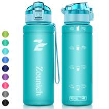Motivational Sports Water Bottle with Time Marker - 40oz,32oz/1L,24oz,17oz BPA Free Eco-Friendly Tritan Bottle - Lockable Flip Top Leak Proof Lid Drinking Bottle with Filter for Fitness Enthusiasts