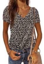 FARYSAYS Women's Summer Camo V Neck Short Sleeve Tee Shirts Casual Loose Blouse Tops