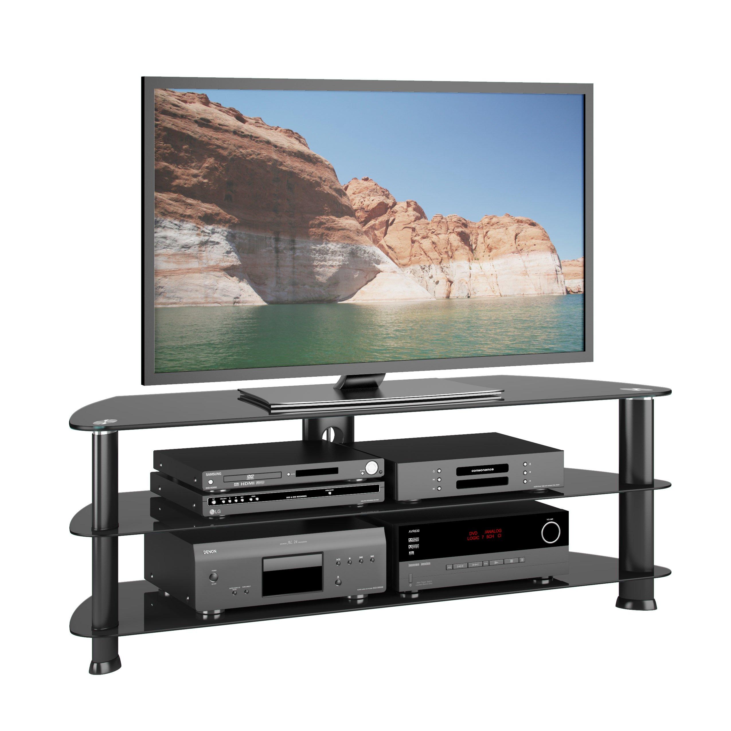 "CorLiving Laguna TV Stand, 55"", Satin Black"
