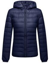 ZSHOW Women's Packable Hooded Lightweight Down Jackets Puffer Coats