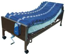 "Drive Medical 5"" Med Aire Low Air Loss Mattress Overlay System with APP, Blue, 5"""