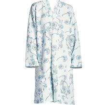 Women's Zip-Front Comfy Quilted Cotton Robe by EZI