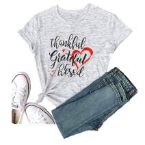 Women Eating Tacos Two Grateful Blessed Love Summer Short Sleeve T-Shirt Graphic Tees Casual Tops