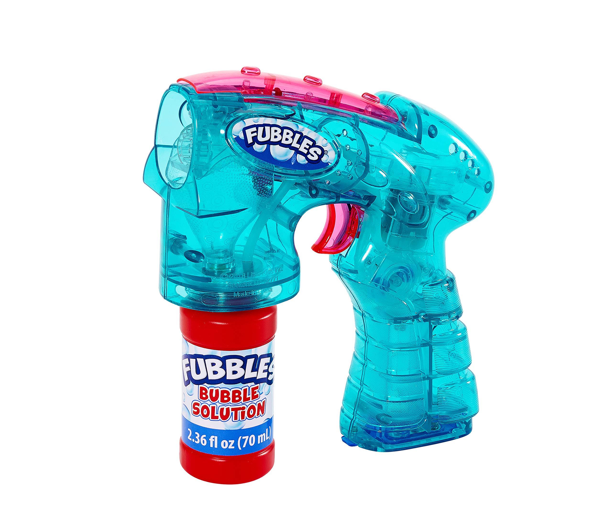 Little Kids Fubbles Light Up Bubble Blaster Blows Tons of Bubbles for Kids Includes Bubble Solution, Teal