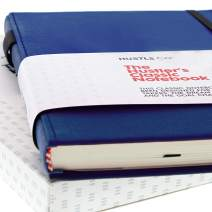Hardcover Notebook Journal in Blue A5   Thick 120gsm Bleed-Resistant Paper Lined for Writing   Bound Notebooks and Journals with Pen Holder, Pocket, Ribbon   Journals to Write In For Men and Women