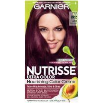 Garnier Nutrisse Ultra Color Nourishing Permanent Hair Color Cream, BR2 Dark Intense Burgundy (1 Kit) Red Hair Dye (Packaging May Vary), 1 Count