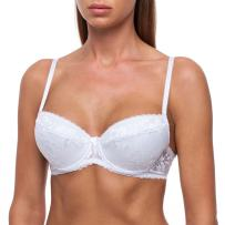 frugue Women's Push-Up Sexy Lace T-Shirt Plunge Padded Bra