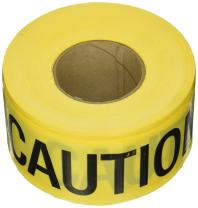 C.H. Hanson 16001 Yellow Caution/Wet Paint Barricade Tape, 2 mil, 1000 ft