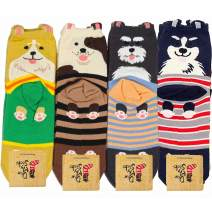 DearMy Womens Funny Design Casual Cotton Crew Socks   Art Patterned  Gifts for Women and Girls(Boys)