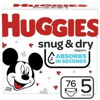 Huggies Snug & Dry Baby Diapers, Size 5, 76 Ct (51534)