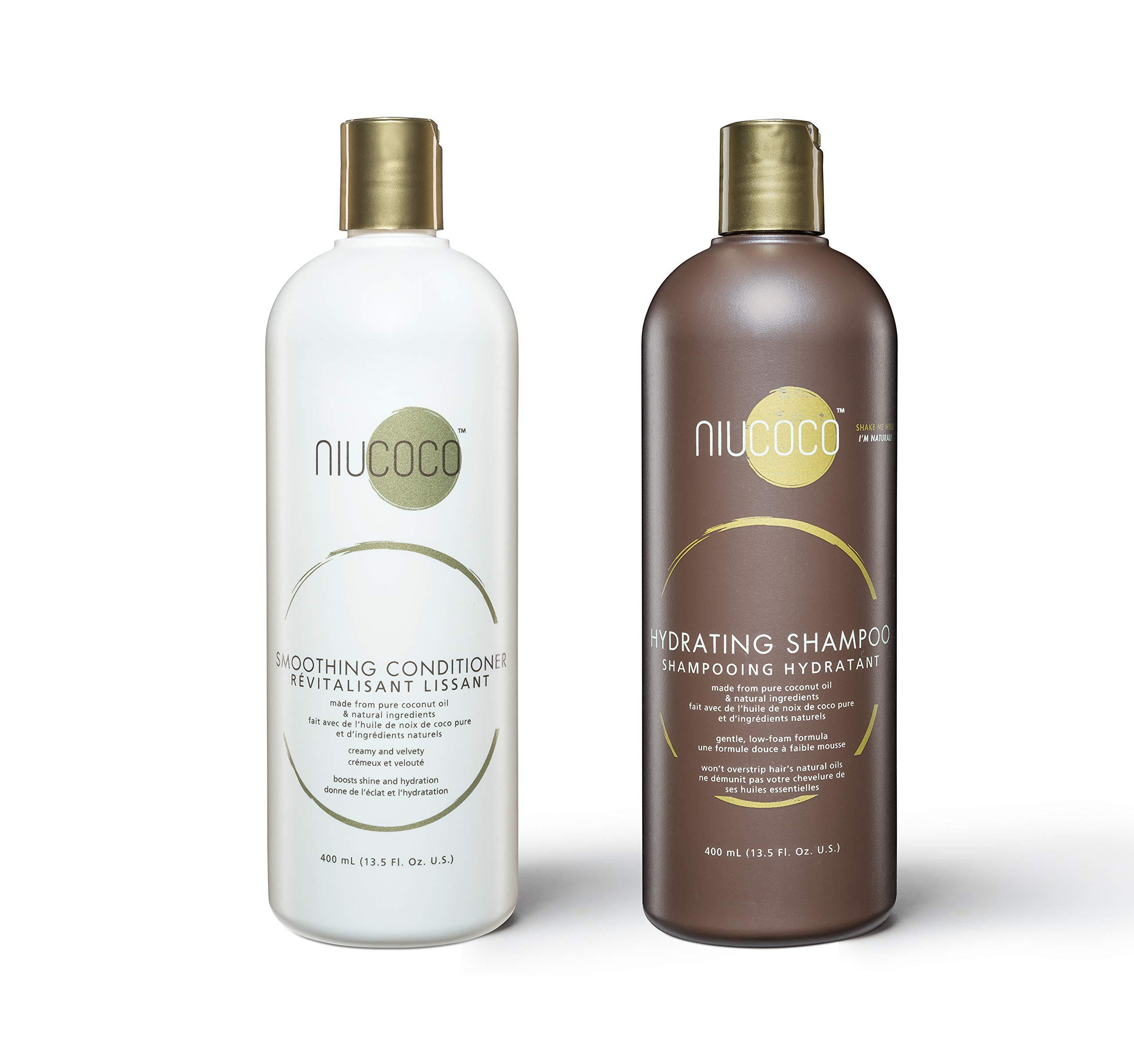 NIUCOCO | All-Natural Coconut Oil Shampoo and Conditioner | 100% Non-Toxic | Bundles (400ml)