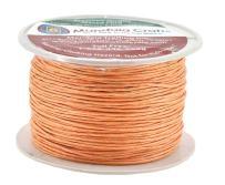 Mandala Crafts 1mm 109 Yards Jewelry Making Beading Crafting Macramé Waxed Cotton Cord Thread (Salmon)