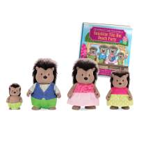 Li'l Woodzeez Porcupine Family Set – McBristly Porcupines with Storybook – 5pc Toy Set with Miniature Animal Figurines – Family Toys and Books for Kids Age 3+, Model:6461