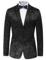 PAUL JONES Men's Stylish Slim Fit Luxury Jacquard Suit Blazer