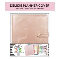 Me & My Big Ideas Classic Deluxe Cover, Rose Gold - The Happy Planner Scrapbooking Supplies - Stylish & Functional - Extra Protection and Storage, Inner Pockets - Includes Pen Holder - Classic Size
