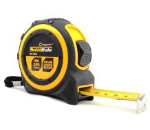 Tape Measure 26-Foot (8m) by Magnelex, Inches and Metric Measuring Tape for Construction, Home Use and DIY, Smooth Sliding Nylon Coated Ruler, Strong Belt Clip, Impact Resistant Rubber Covered Case