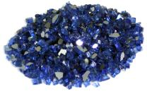 American Fireglass 10-Pound Reflective Fire Glass with Fireplace Glass and Fire Pit Glass, 1/4-Inch, Cobalt Blue
