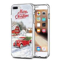 "Newseego Compatible with iPhone 7/8 Plus Christmas Case, Shockproof Series Anti-Yellow Hard PC + TPU Bumper Protective Cover for iPhone 7/8 Plus 5.5"" Merry Christmas Car Design"