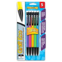 Promarx Graff Eco Mechanical Pencils, 0.7 mm, Assorted Metallic Barrels, 5 Count (MQ12-DR7B05-48)
