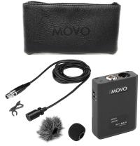 Movo LV22OD XLR Lavalier Omnidirectional Condenser Microphone with Phantom Power Supply Body Pack, 12mm Mic Capsule, Foam and Deadcat Windscreens, Deluxe Case