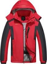 Vcansion Men's Waterproof Mountain Jacket Fleece Outerwear Windproof Ski Jacket Snow Jacket Raincoat