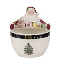 Spode Christmas Tree Santa Nut Bowl, Multicolor