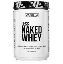 Less Naked Whey Vanilla Protein 1LB – All Natural Grass Fed Whey Protein Powder + Vanilla + Coconut Sugar- GMO-Free, Soy Free, Gluten Free. Aid Muscle Growth & Recovery - 12 Servings