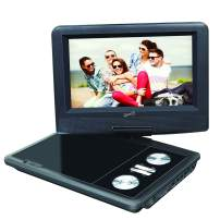 """SuperSonic SC-257 Portable DVD Player 7"""" and Digital TV: USB and SD inputs with Built-in Lithium Ion Battery and Swivel Display"""